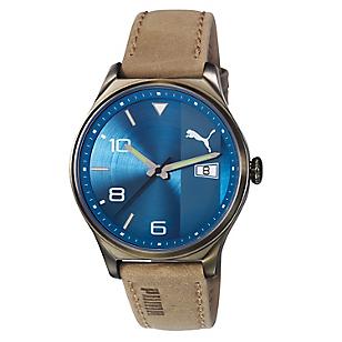 Reloj Hombre Retro Gt Leather Blue