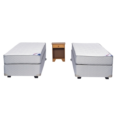 Box Spring Therapedic 1 Plaza BN + Velador