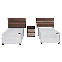Cama Americana Spring III 1 Plaza Base Normal + Muebles
