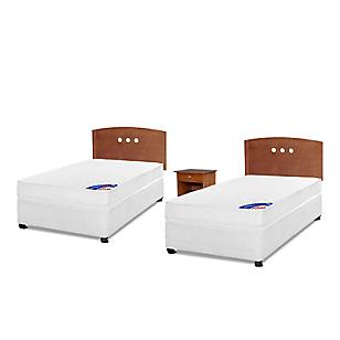 Cama Americana Spring III 1 Plaza Base Normal + Muebles