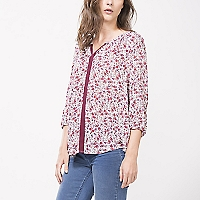 Blusa Floral con Cinta
