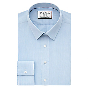 Camisa Slim Fit + Cuello Semi Italiano