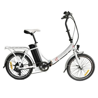 Bicicleta Aro 20 Eléctrica Urbana Plegable Klapp Blanca
