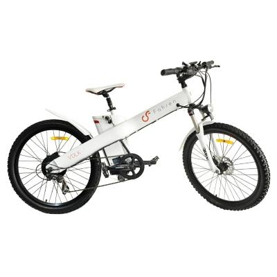 Bicicleta Aro 26 Eléctrica Volk 500 Blanca