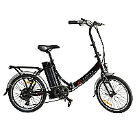 Bicicleta Aro 20 Eléctrica Urbana Plegable Klapp Negra