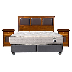 Box Spring Balance 1 2 Plazas Base Dividida + Muebles