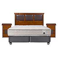Box Spring Balance 1 King Base Dividida + Muebles
