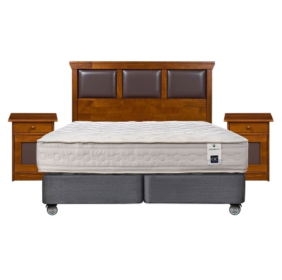 Box Spring Balance 1 King Base Dividida + Muebles