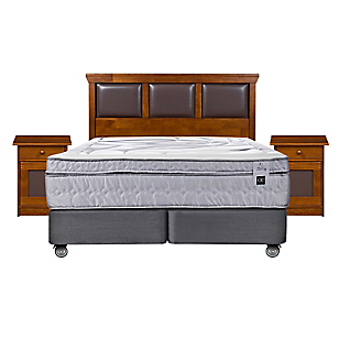 Box Spring Zen 3 King Base Dividida + Muebles