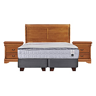 Box Spring Zen 1 2 Plazas Base Dividida + Muebles