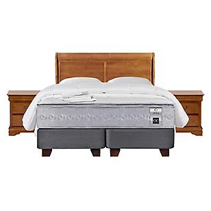 Box Spring Zen 1 King Base Dividida + Muebles + Textil