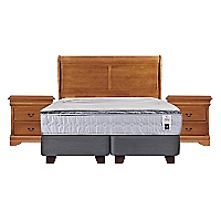 Box Spring Zen 1 King Base Dividida + Muebles
