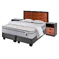 Box Spring Zen 3 King Base Dividida + Muebles + Textil