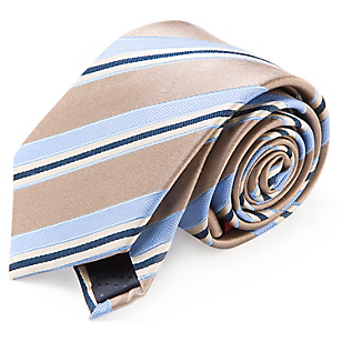Corbata Seda Rayas 7,5 cm