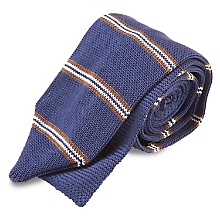 Corbata Tejida Texturado 7 cm, Cl�sica