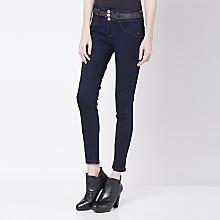 Jeans Ajustado Detalle en Cintura