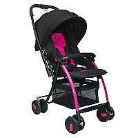 Coche Paseo Air Pink-Negro