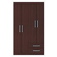 Closet 4 Puertas Caoba