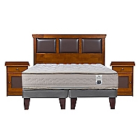 Cama Europea Balance 3 King Base Dividida + Muebles