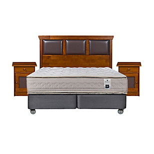 Box Spring Balance 3 2 Plazas Base Dividida + Muebles