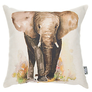 Cojín Rectangular Elefant Aquarelle