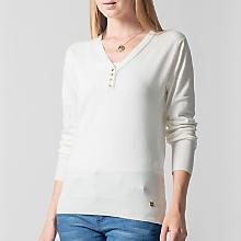 Sweater Liso Detalle Botones