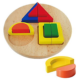 Encaje Figura Geométrica Madera