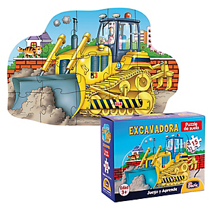 Puzzle Excavadora Cartón 15 piezas