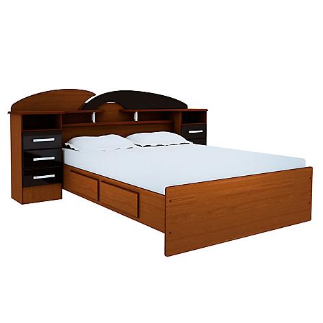 Mica cama 2 plazas premium for Cama 2 plazas con cajones