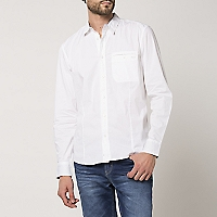 Camisa Ml Lisacl Mbasic2 White