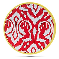 Plato de Melamina 21.5 cm Ikat Rojo
