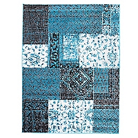Alfombra Bosco 160 x 230 cm Azul