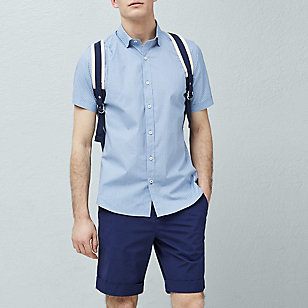Camisa Slim-Fit Estampado Corbatero
