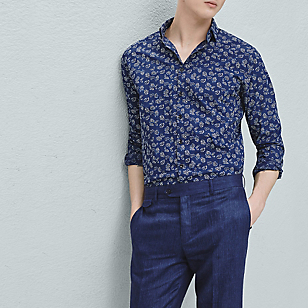 Camisa Slim-Fit Estampado Floral