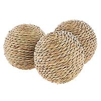 Set 3 Bolas Deco Rattan Seasonal Traves