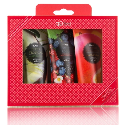 Set Cremas de Manos Coco Tropical 60 ML + Frutos Rojos 60 ML + Mango Maracuya 60 ML