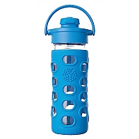 Botella de Vidrio Flip 350 ml Azulino