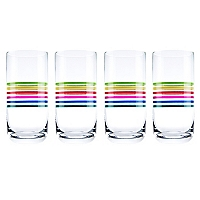 Set 4 Vasos Altos con Rayas