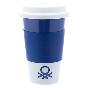Mug con Tapa Azul