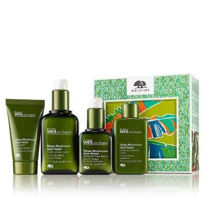 Set Tratamiento Rostro Dr. Weil Mega Mushroom Skin Relief Soothing Face Lotion 50 ml + Treatment Lotion 50 ml + Advanced Face Sérum 30 ml + Relief Face Mask 30 ml