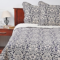 Quilt-Sherpa Estampado Bicolor King