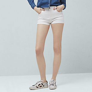 Short Denim Blanco