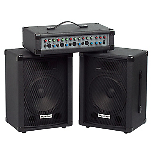 Power Mixer 4 Canales  2 Cajas