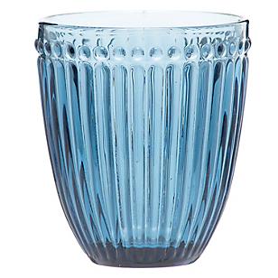 Vaso Azul Vidrio Color