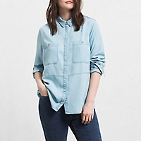 Blusa Denim Soft