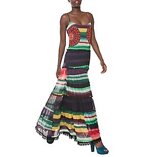 Vestido Maxi Líneas