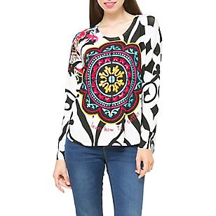 Sweater Ajustado Cuello Redondo