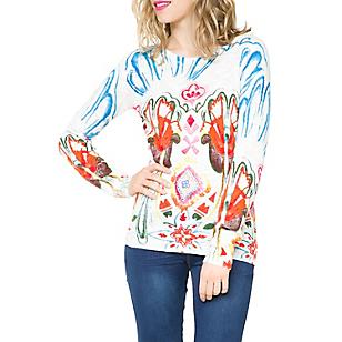 Sweater Manga Larga Estampado