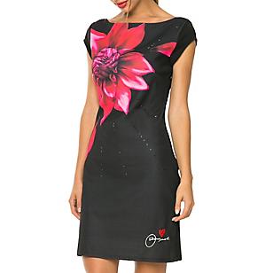 Vestido Ajustado Estampado Flor