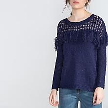 Sweater Calados Flecos